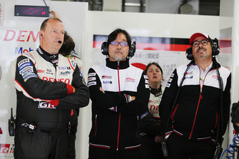 John Steeghs, Team Manager, Hisatake Murata, TMG Team President and Rob Leupen, Team Director Toyota Gazoo Racing