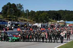 Teams, grid, national anthem