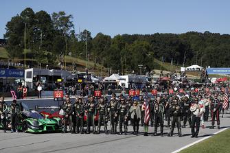 Teams, grid, national anthem