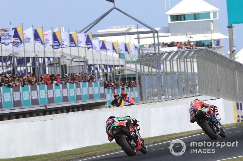 Андреа Довіціозо, Ducati Team, Скотт Реддінг, Aprilia Racing Team Gresini