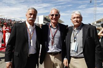 John Malone, Chairman, Greg Maffei, Liberty Media, President and CEO, Liberty Media, and Chase Carey, Chairman, Formula One