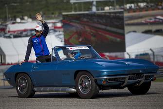 Pierre Gasly, Toro Rosso tijdens de rijdersparade