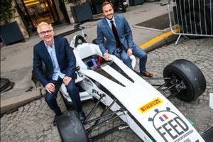 Patrick Lemarie, co-fundador de Feed racing, Jacques Villeneuve, co-fundador de Feed racing