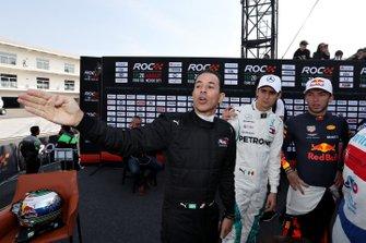 Helio Castroneves, Esteban Gutierrez, y Pierre Gasly