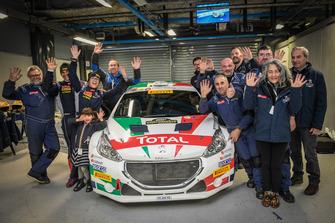 Paolo Andreucci, Anna Andreussi, Peugeot 208 T16 R5, con il team