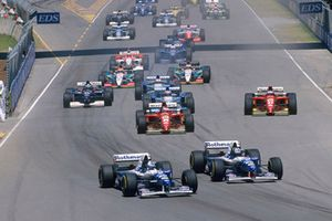 Start zum GP Australien 1995 in Adelaide: David Coulthard, Williams FW17B, Damon Hill, Williams FW17B