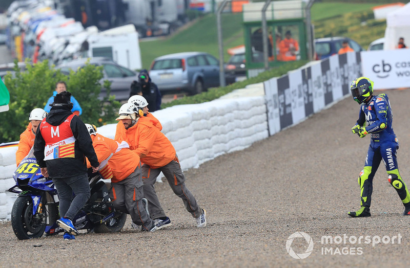 Valentino Rossi, Yamaha Factory Racing después de su caída