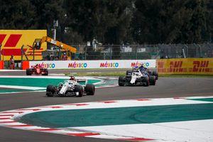 Marcus Ericsson, Sauber C37, Sergey Sirotkin, Williams FW41 and Brendon Hartley, Scuderia Toro Rosso STR13