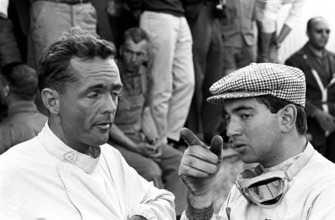 Phil Hill, Ferrari; Ricardo Rodriguez, Ferrari