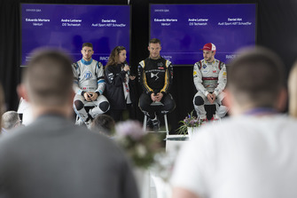 Press Conference Edoardo Mortara Venturi Formula E, Andre Lotterer, DS TECHEETAH, Daniel Abt, Audi Sport ABT Schaeffler