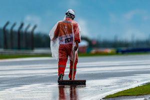 Marshall at work under the rain