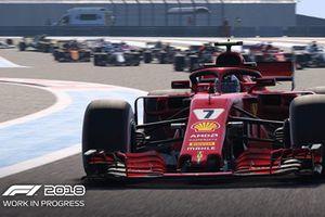لقطة شاشة من لعبة الفورمولا واحد 2018