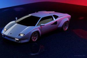 Lamborghini Countach render by Jimmy Nahlous
