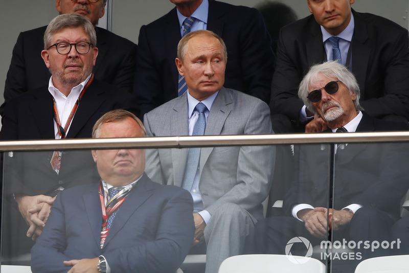 Ross Brawn, Motorsporları Direktörü, FOM, Vladimir Putin, Rusya Başkanı ve Bernie Ecclestone