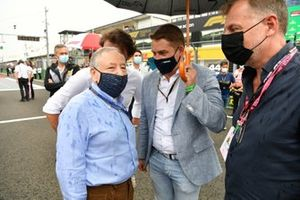 Jean Todt, President, FIA, on the grid with guests