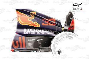Red Bull Racing RB16B new floor