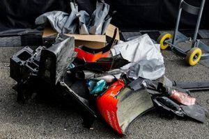 #25 G-Drive Racing Aurus 01 - Gibson LMP2, John Falb, Roberto Merhi, Rui Andrade, detalle de daños en la carrocería