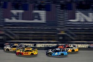 B.J. McLeod, Live Fast Motorsports, Ford Mustang Honor And Remember and Joey Logano, Team Penske, Ford Mustang Shell Pennzoil