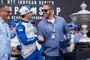 Alex Palou, Chip Ganassi Racing Honda, Celebrates championship