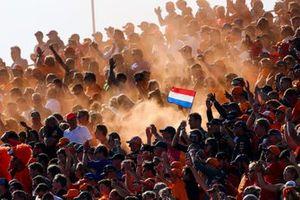 Fans with Dutch flag