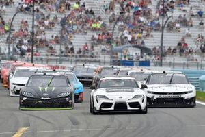 Ty Gibbs, Joe Gibbs Racing, Toyota Supra Monster Energy, A.J. Allmendinger, Kaulig Racing, Chevrolet Camaro Hyperice, Toyota Supra Pace Car