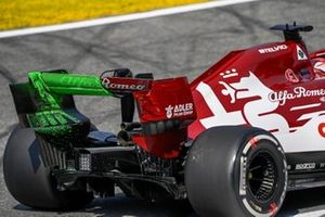 Flow-viz paint on the car of Kimi Raikkonen, Alfa Romeo Racing C39