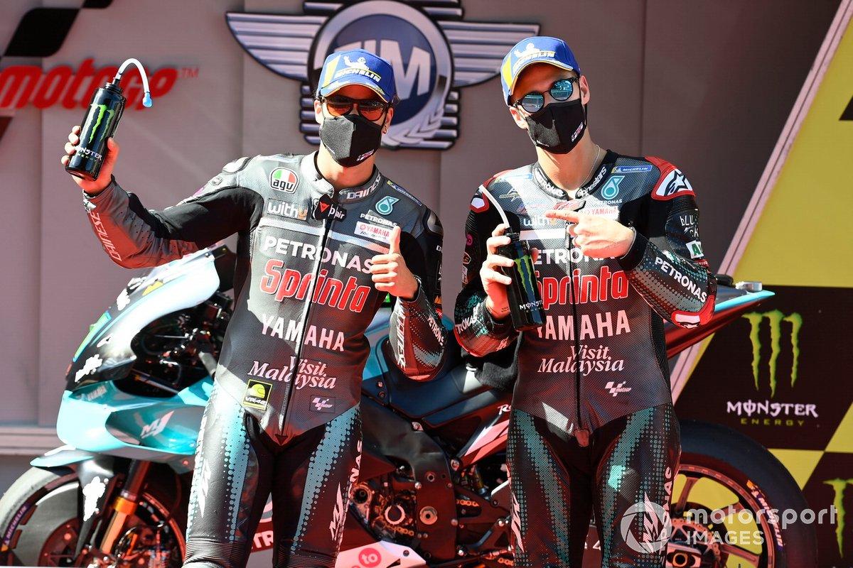 Ganador de la pole Franco Morbidelli, Petronas Yamaha SRT, segundo Fabio Quartararo, Petronas Yamaha SRT