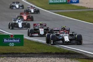 Antonio Giovinazzi, Alfa Romeo Racing C39, Kevin Magnussen, Haas VF-20, and Nicholas Latifi, Williams FW43