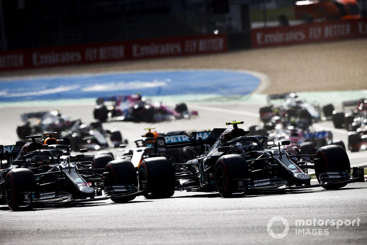 Valtteri Bottas, Mercedes F1 W11, Lewis Hamilton, Mercedes F1 W11 al inicio