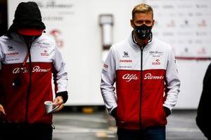 Kimi Raikkonen, Alfa Romeo and Mick Schumacher, Alfa Romeo