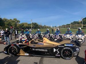 Antonio Felix Da Costa, driver of DS TECHEETAH FE Team, celebrates championship titles in Lisbon, Portugal