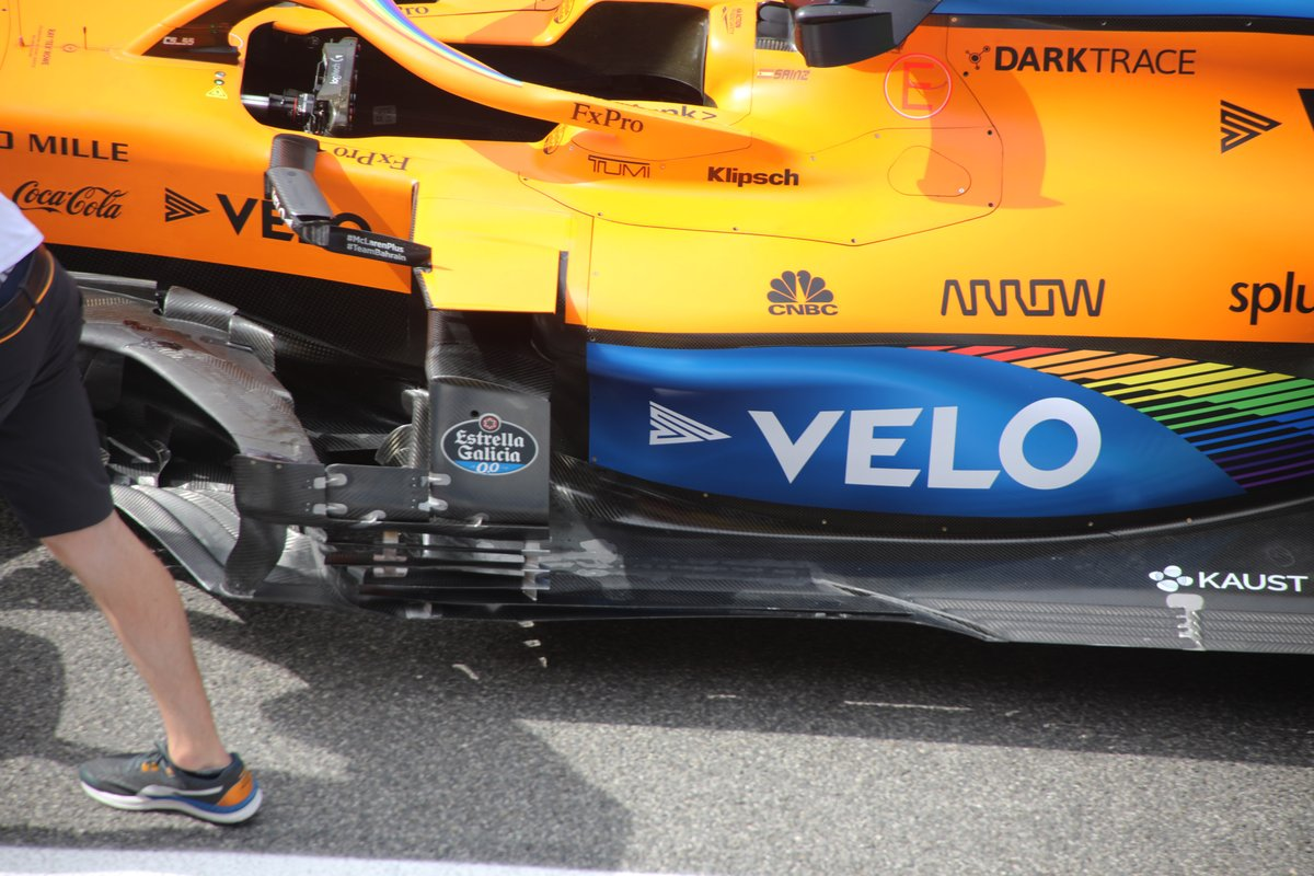 McLaren MCL35 detalle de los sidepods