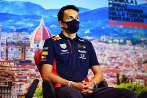 Alex Albon, Red Bull Racing in the press conference