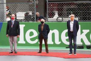 Prince Albert II de Monaco, Jean Todt, Président, FIA, et Stefano Domenicalli, Chef Exécutif, FOM, sur la grille