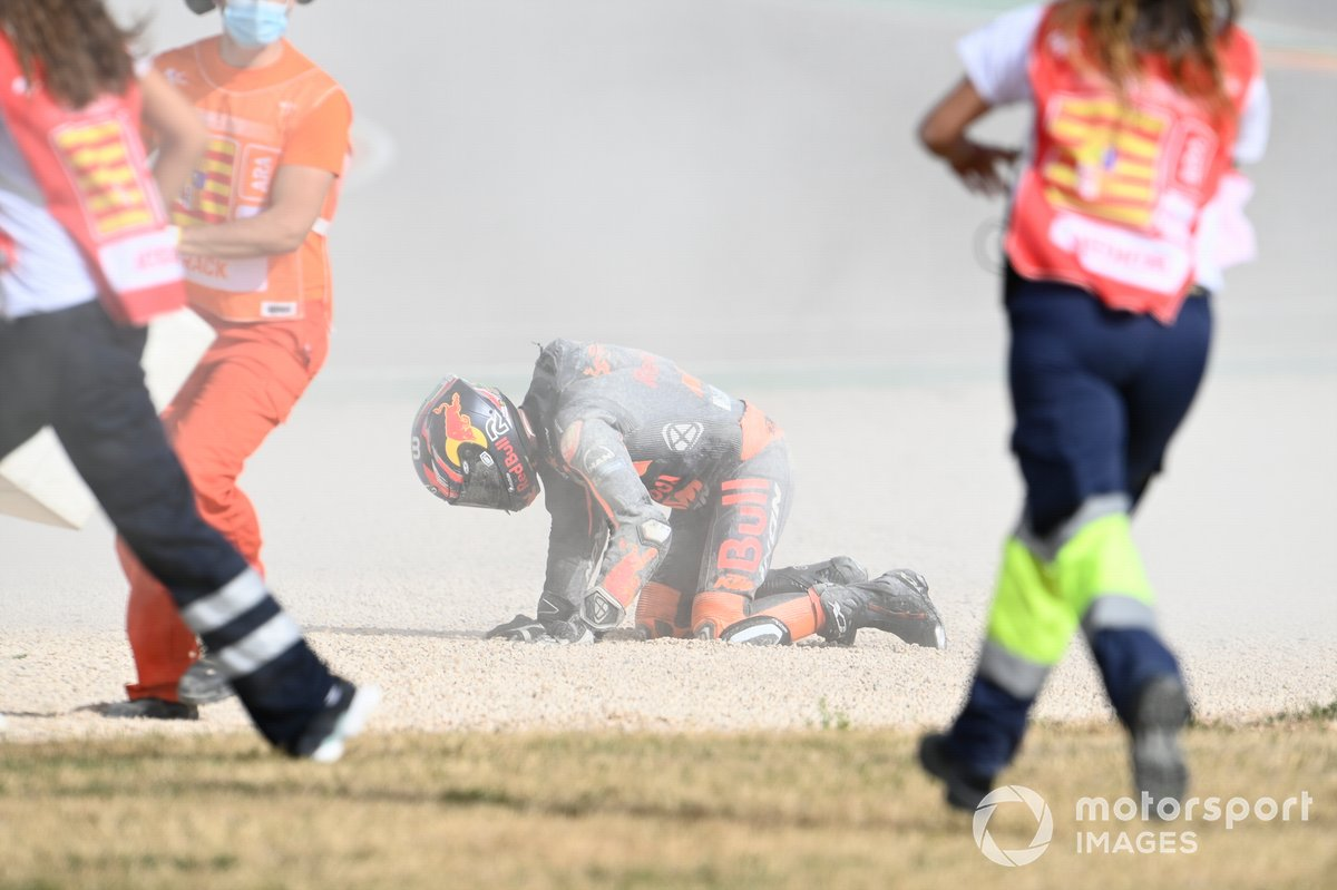 Caída de Brad Binder, Red Bull KTM Factory Racing