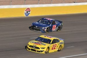 #22: Joey Logano, Team Penske, Ford Mustang Pennzoil #96: Daniel Suarez, Gaunt Brothers Racing, Toyota Camry Team USA Toyota