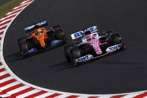 Sergio Perez, Racing Point RP20, Carlos Sainz Jr., McLaren MCL35