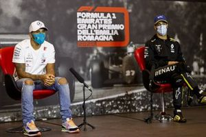 Race Winner Lewis Hamilton, Mercedes-AMG F1 and Daniel Ricciardo, Renault F1 in the press conference