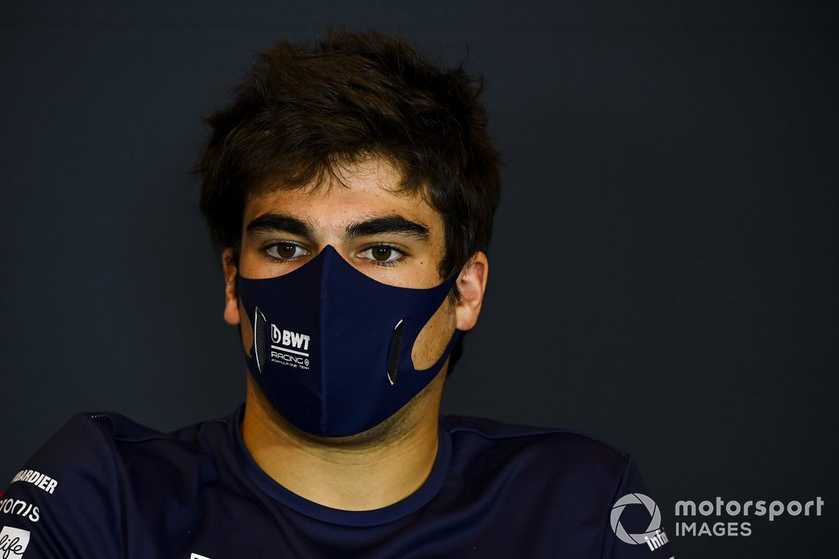 Lance Stroll, Racing Point, en la conferencia de prensa