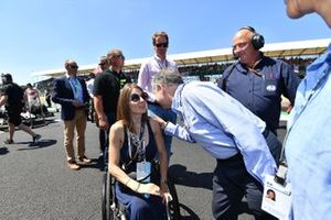 Nathalie McGloin and Jean Todt, FIA President on the grid