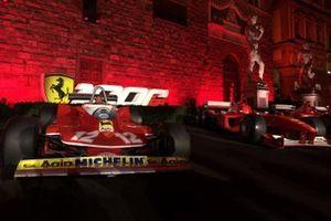 Ferrari vintage F1 cars lineup