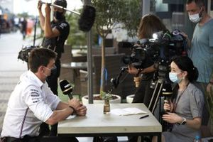Toto Wolff, Executive Director (Business), Mercedes AMG, is interviewed