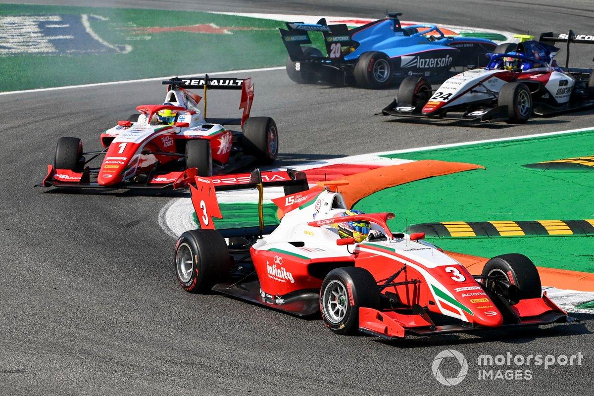 Logan Sargeant, Prema Racing y Oscar Piastri, Prema Racing