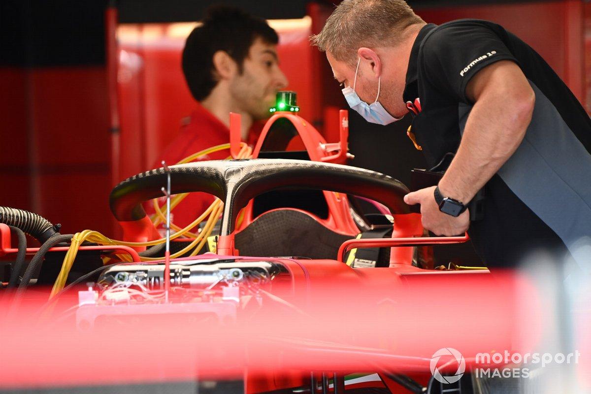 Detalle técnico del Ferrari SF1000