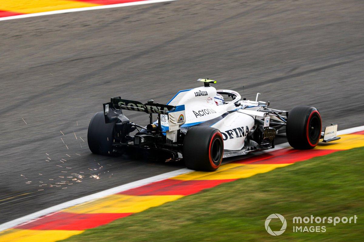 Nicholas Latifi, Williams FW43 saca chispas