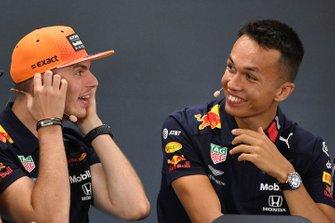 Max Verstappen, Red Bull Racing, and Alexander Albon, Red Bull