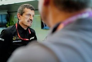 Guenther Steiner, Team Principal, Haas F1 speaks to the media