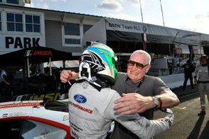 #67 Ford Chip Ganassi Racing Ford GT, GTLM: Richard Westbrook and his father celebrate the victory.