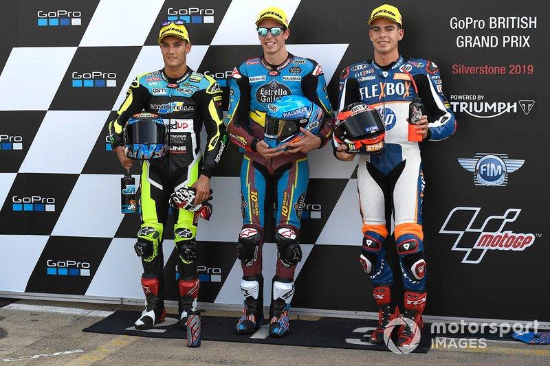 Ganador de la pole Alex Marquez, Marc VDS Racing, segundo lugar Jorge Navarro, Speed Up Racing, tercer lugar Augusto Fernandez, Pons HP40