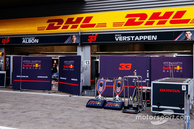 Red Bull Racing garage overview
